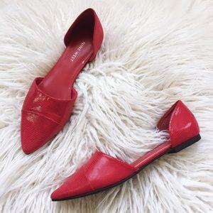 Steve Madden d'Orsay Flat Red Size 7